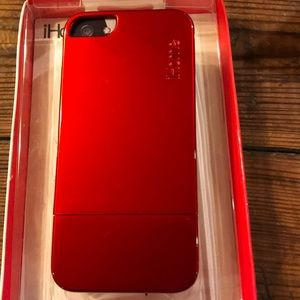 New in box. Metallic red iPhone 5 case.